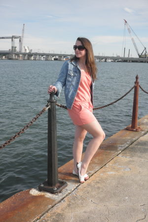 pink Forever 21 - blue jacket - white Target