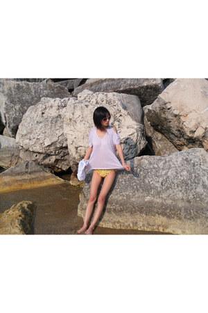 periwinkle wilfred shirt - light yellow Victorias Secret swimwear
