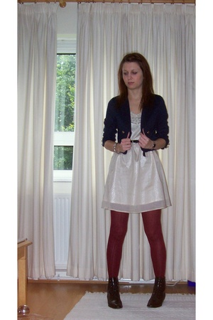 H&M blazer - Portobello dress - tights - shoes