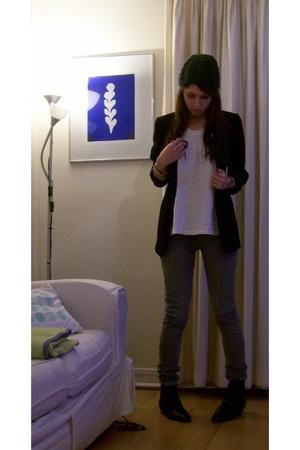 blazer - Primark top - Primark jeans - shoes - H&M hat