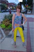 yellow Gap pants - violet asos shirt