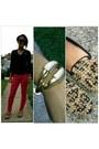 Navy-sweater-hollister-sweater-talon-cuff-oasap-bracelet