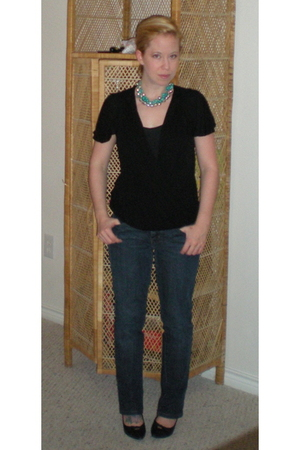 Anthropologie top - Gap top - Gap jeans - Target shoes - necklace