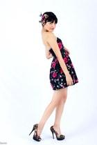 floral dress - floral heels