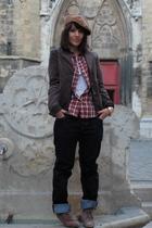 beige Reserve naturelle accessories - brown Primark belt - blue Levis 511 jeans
