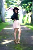 dark brown Revolve Clothing shoes - crimson hat hm accessories