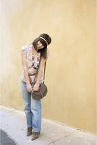 blue Ikks jeans - pink Zara blouse