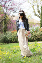 black Samsoe Samsoe jacket - cream Luna llena bag - cream Zara skirt