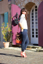 H&M heels - Samsoe Samsoe jeans - H&M bag - Les midinettes top