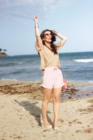 Les midinettes shorts - new look bag - Les midinettes top