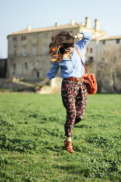 H&M shirt - Primark bag - Samsoe Samsoe heels