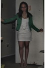 Ivory-dress-teal-forever-21-blazer