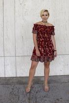 Marshalls dress - Marshalls sandals - Etsy necklace - Etsy bracelet