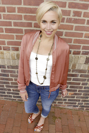 Lucy Paris jacket - madewell jeans - kohls sandals - Betsey Johnson necklace