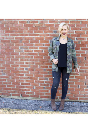 cotton on top - Report boots - Zara jeans - Lord and Taylors jacket