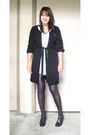 White-forever-21-dress-black-alfani-sweater-black-target-tights-black-thri