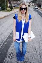 blue vintage vest - jimi Textile Elizabeth and James jeans