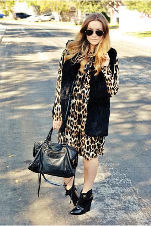 cheetah print Karen Kane dress - ss 2012 balenciaga bag - PROENZA SCHOULER heels