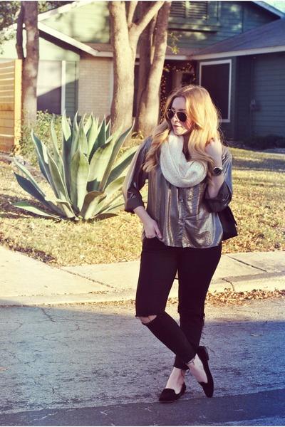 J Brand jeans - Karen Kane blouse - Zara loafers