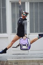 Jump From Paper bag - Lazy Oaf socks - kimono sunglasses - Eleven Paris sneakers