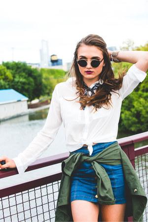 Boohoo jacket - Boohoo shirt - Boohoo scarf - Boohoo skirt