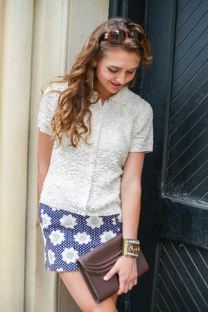 small bag Lauren Cecchi bag - big bag Lauren Cecchi bag - Topshop skirt