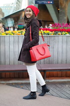 duffle coat H&M coat - ankle boots Forever 21 boots - Michael Kors bag