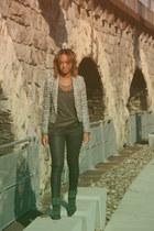 River Island boots - Zara blazer - Cheap Monday top - Zara pants