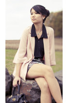 light pink H&M Trend blazer - black H&M Trend shirt - black carla mancini bag
