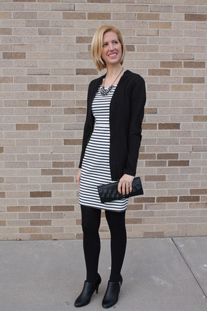 xhilaration dress - black dress JCrew Factory coat - black JCrew Factory sweater