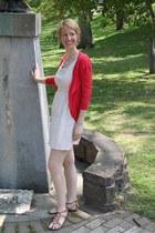 initial ACharmedImpression necklace - polka dot JCrew Facotry dress