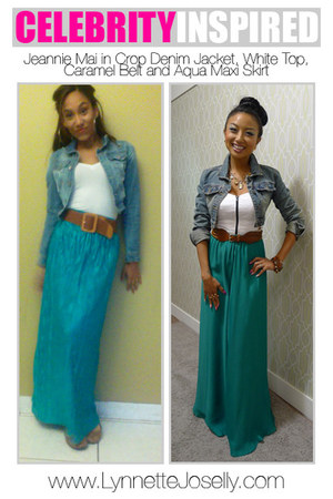 maxi Ross skirt - denim Madrag jacket - Forever 21 shirt