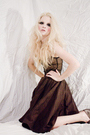 Black-american-apparel-intimate-brown-vintage-skirt-brown-jessica-simpson-sh
