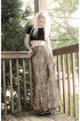 Black-vintage-top-gold-hand-sewn-skirt-black-shoe-dazzle-shoes-gold-foreve