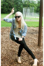 Black-goldesign-pants-beige-urban-outfitters-top-beige-aldo-shoes-blue-zar
