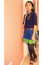 Aeropostale skirt - Forever21 tights - sonoma accessories - Levis belt