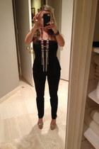 peplum jumpsuit Zara jumper - Sergio Rossi sandals