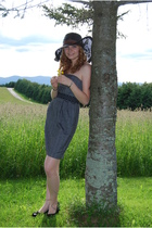 gray dress - black Urban Outfitters hat