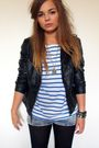 Black-primark-jacket-blue-h-m-top-blue-h-m-shorts-gold-zara-taylor-accesso