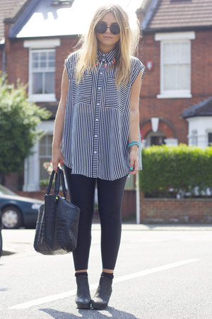 black striped Monki shirt