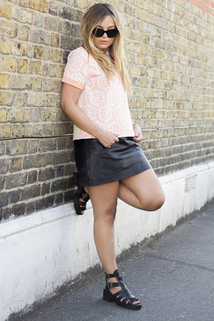 neon lace River Island t-shirt