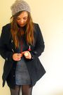 Blue-dorothy-perkins-coat-blue-primark-dress-black-primark-cardigan-red-eb
