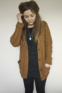 Burnt-orange-new-look-cardigan-black-ax-paris-dress-black-h-m-skirt-black-