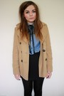 Camel-new-look-coat-light-blue-h-m-shirt-black-h-m-skirt-black-craft-store