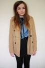 Camel-new-look-coat-light-blue-h-m-shirt-black-h-m-skirt-black-craft-store