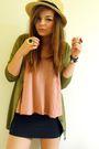 Pink-topshop-vest-black-h-m-skirt-green-h-m-cardigan-gold-primark-accessor