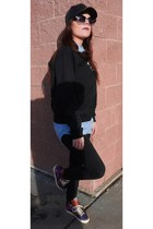 nike Urban Outfitters sneakers - Forever 21 shirt - PacSun sweatshirt