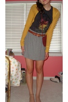 Lucky Brand shirt - Macys sweater - Target skirt