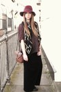 Office-boots-topshop-dress-felt-topshop-hat-primark-scarf-vintage-bag