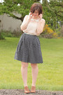 Navy-polka-dot-forever-21-skirt-peach-lace-forever-21-top
